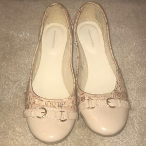 SoleSensibility Shoes   Nude Cork Flats